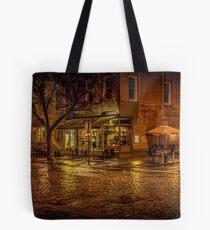 Rain On The Cobblestones Of Greenwich Village Tote Bag