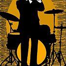 Vintage New Orleans Jazz Poster, Samba D'Orpheus, Original Artwork, Tshirts, Prints, Posters, Bags, Men, Women, Kids by Art-O-Rama ®