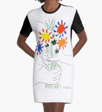 Pablo Picasso Bouquet Of Peace 1958 (Flowers Bouquet With Hands), T Shirt, Artwork Graphic T-Shirt Dress