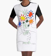 Pablo Picasso Blumenstrauß des Friedens 1958 (Blumenstrauß mit den Händen), T-Shirt, Artwork T-Shirt Kleid