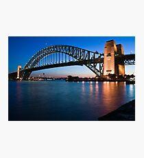 Sydney Harbour Bridge at dusk Photographic Print