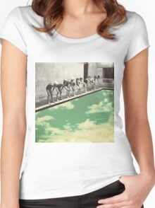 """Skydiving"" Women's Fitted Scoop T-Shirt"
