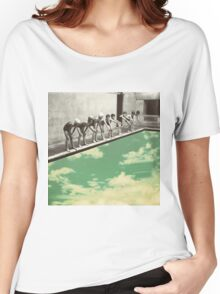 """Skydiving"" T-shirt femme coupe relax"