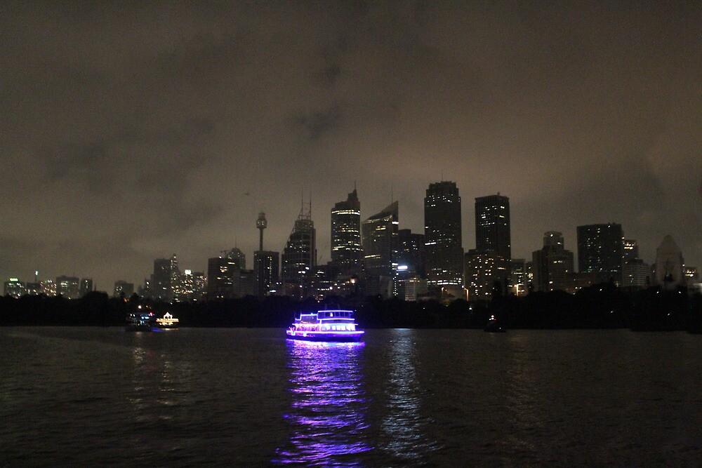 Sydney harbour at night by Dean Woodyatt