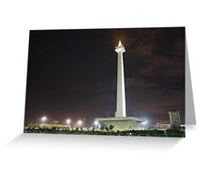 Monas jakarta by tim coleman redbubble greeting card m4hsunfo