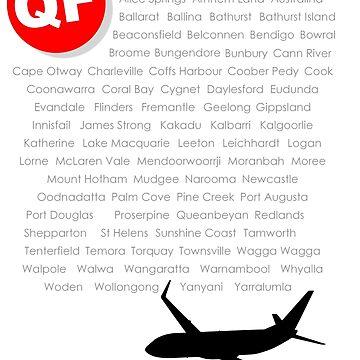 QANTAS Boeing 737-800 Fleet Names (Black Print) by Auchmithie49