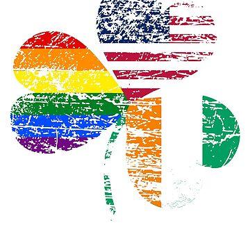 Vintage USA Irish LGBT Flag by CasualMood