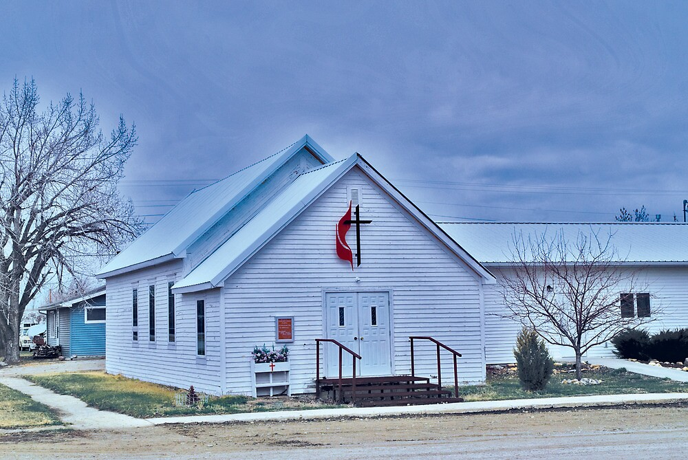United Methodist Church, Winnett Montana USA by Bryan D. Spellman