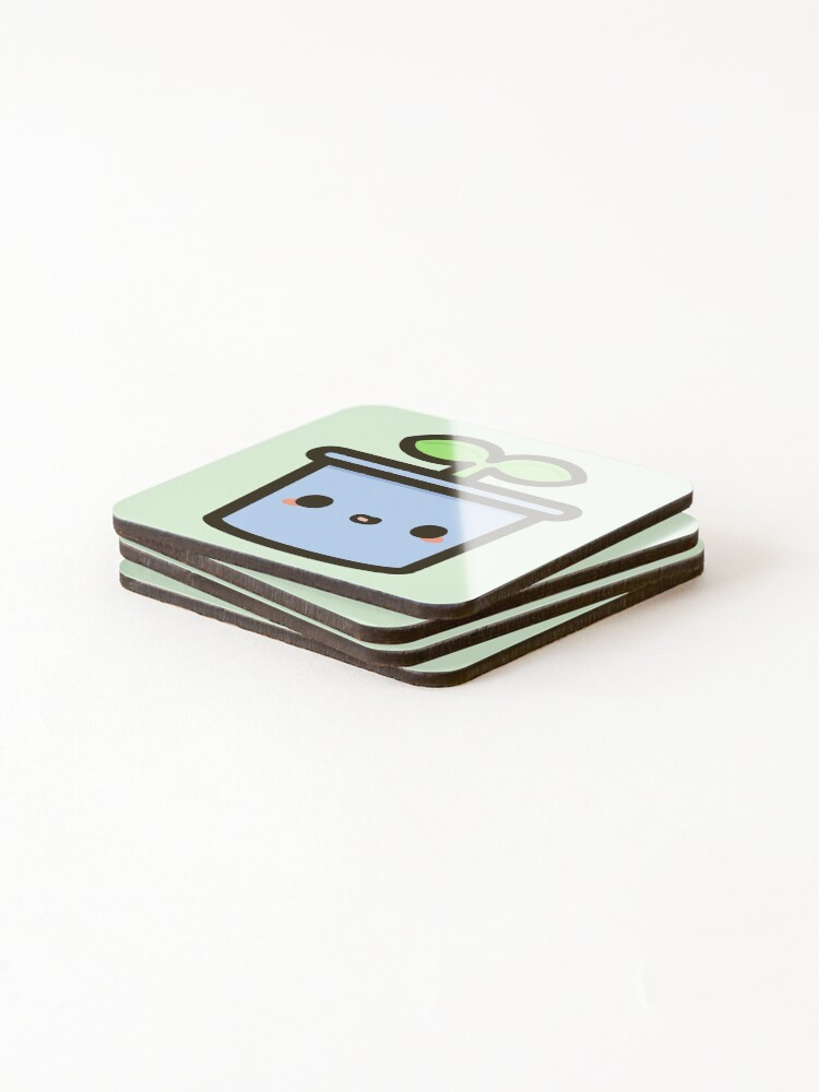 Alternate view of Cute sprout in pot Coasters (Set of 4)