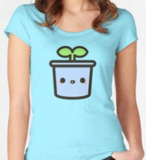 Cute sprout in pot Women's Fitted Scoop T-Shirt