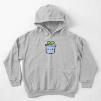 Cute sprout in pot Kids Pullover Hoodie