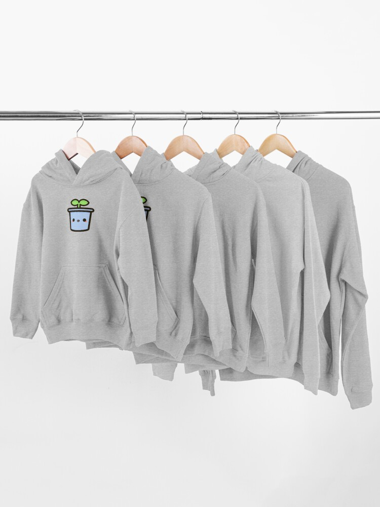 Alternate view of Cute sprout in pot Kids Pullover Hoodie