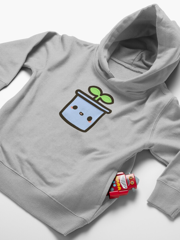 Alternate view of Cute sprout in pot Toddler Pullover Hoodie