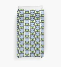 Cute sprout in pot Duvet Cover