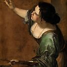 Artemisia Gentileschi, Self-portrait as the Allegory of Painting  by fineearth