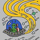 Alien in Flying Saucer by Judy Boyle