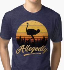 Letterkenny angeblich Strauß flightless Vogel-Weinlese-Retro Sonnenuntergang beunruhigt Vintage T-Shirt