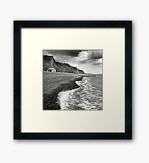 The pebble beach at Sheringham, Norfolk, UK Framed Print