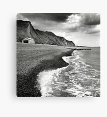 The pebble beach at Sheringham, Norfolk, UK Canvas Print