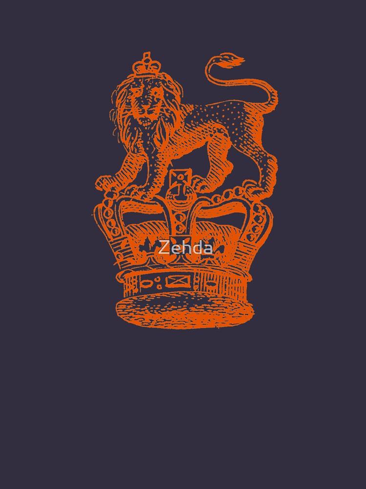 Lion & Crown Heraldry Blazon by Zehda