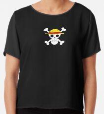 One Piece Pirate Flag  Chiffon Top