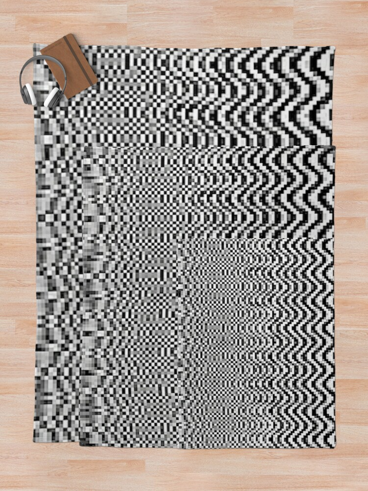 Alternate view of Opt ^ cal ⓪⓪ by RootCat Throw Blanket