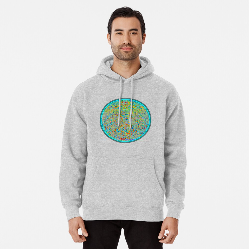 Optical ⑧ by RootCat Pullover Hoodie