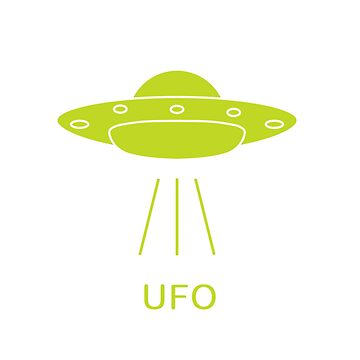 UFO vector icon. Alien space ship. World UFO day. by aquamarine-p