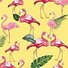 Flamingos Love Pattern 9 by B & K     Store
