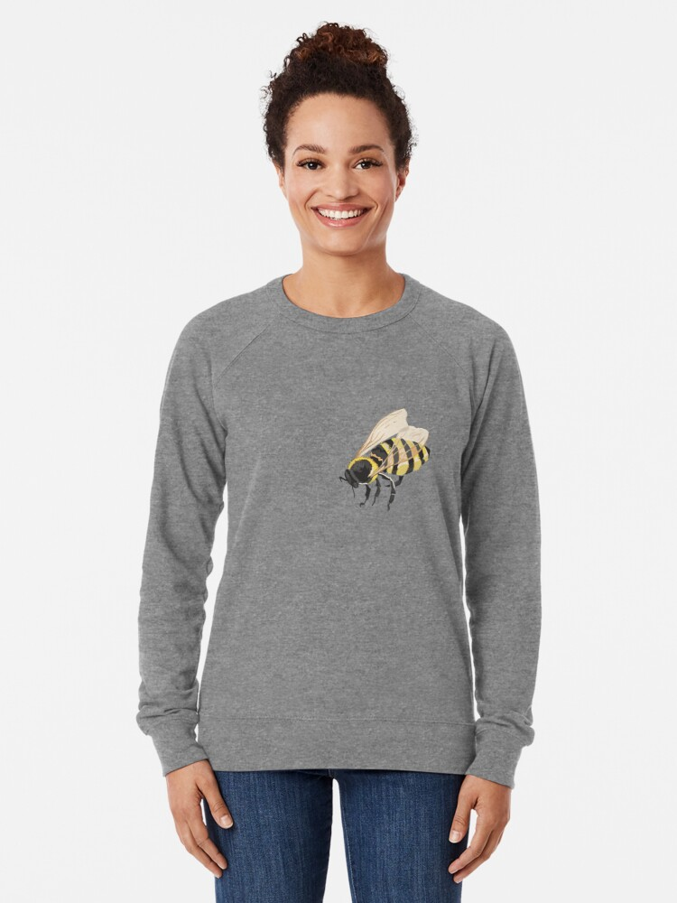 Alternate view of Bee Bee Bee Bees Lightweight Sweatshirt