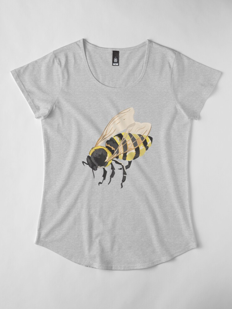 Alternate view of Bee Bee Bee Bees Premium Scoop T-Shirt