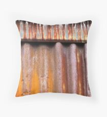 Rusty Tin Throw Pillow