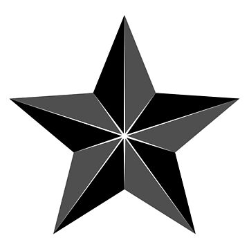 BLACK Segmented star by TOMSREDBUBBLE