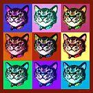 Cats Pop Art by Ginny Luttrell