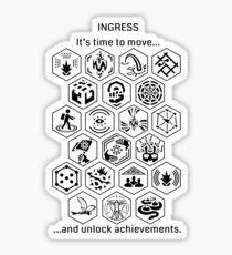 Ingress Achievements Black Sticker