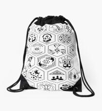 Ingress Achievements Black Drawstring Bag