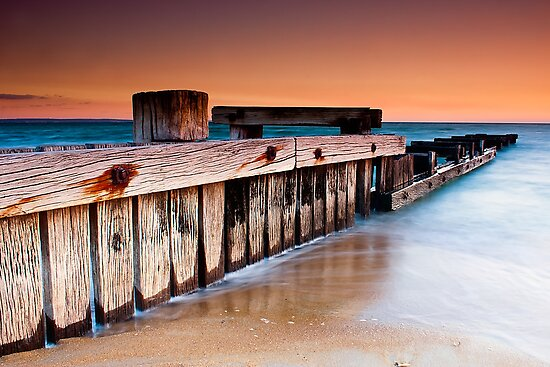 Dusk at Mentone Pier #1 by Jason Green