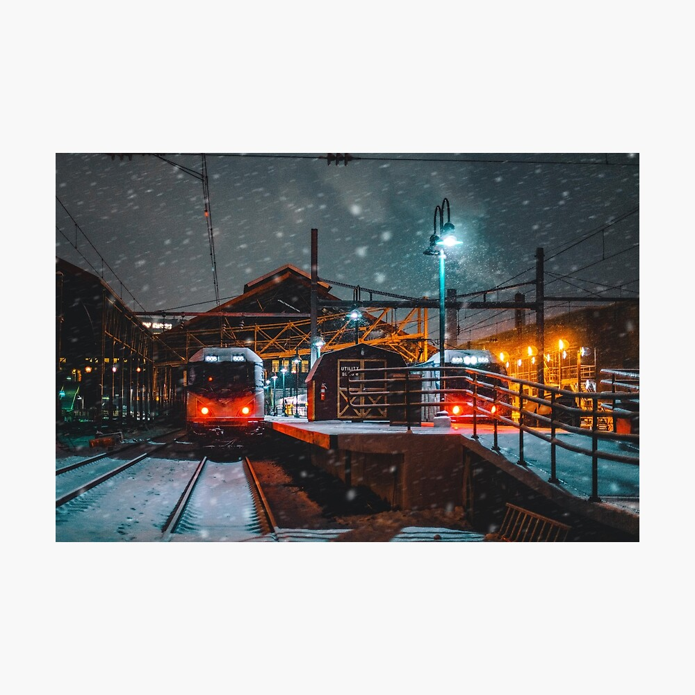 4 AM Train to Winter Photographic Print