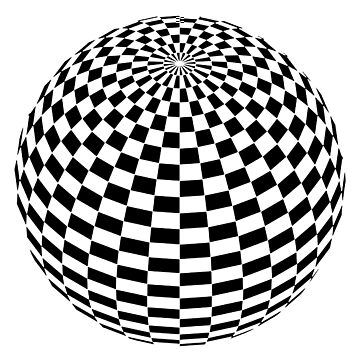 Chessboard Sphere by TOMSREDBUBBLE