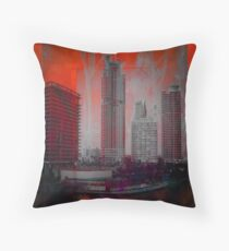 Gray Bouquet in Florida Sun: Miami and the Everglades, a collaboration with Linaji  Throw Pillow