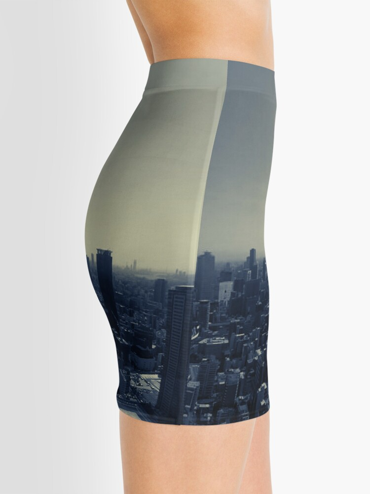 Alternate view of Tokyo Japan skyline summer Mini Skirt