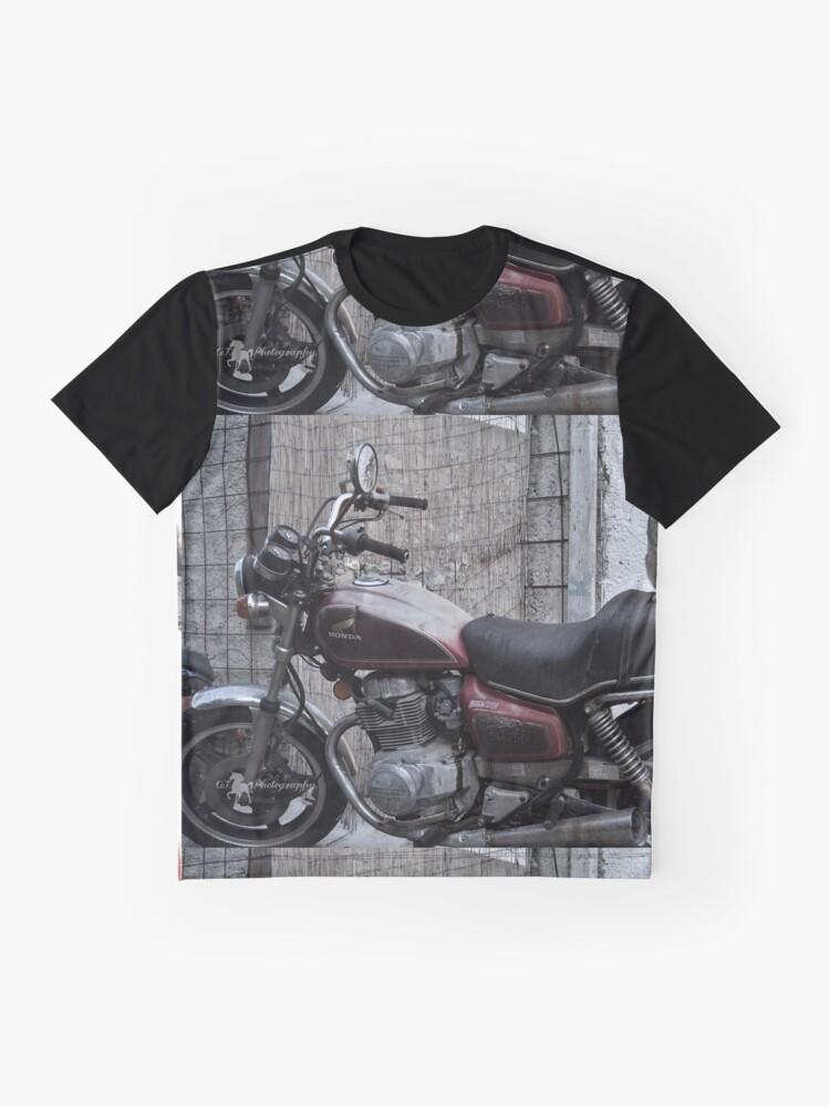 Alternative Ansicht von Cat on motorcycle Grafik T-Shirt