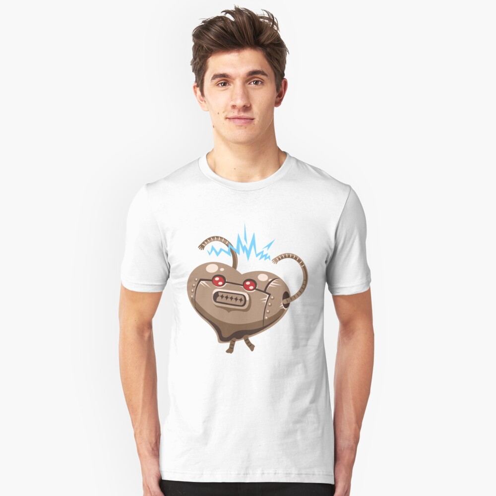 Robot Heart - Cute Valentines Day Cartoon Drawing Holiday Design Unisex T-Shirt