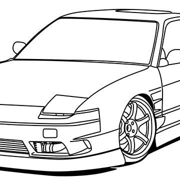 Nissan Skyline R34 Canvas Print By Megalawlz