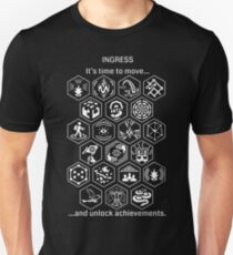 Ingress Achievements White Unisex T-Shirt
