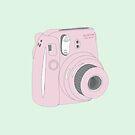 Kawaii Polaroid Instax Pink von PeachPantone