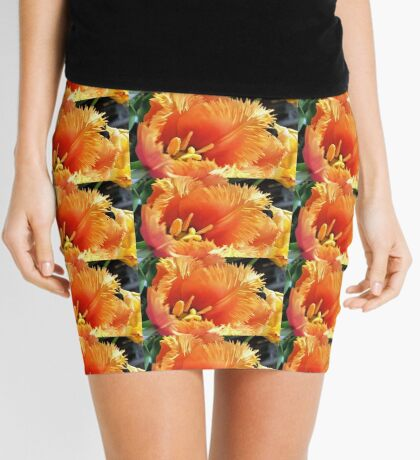 Tulip With A Fringe On Top Mini Skirt