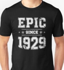 Epic Since 1929 90th Birthday Retro Style Vintage Unisex T Shirt