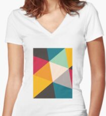 Triangles (2012) Women's Fitted V-Neck T-Shirt
