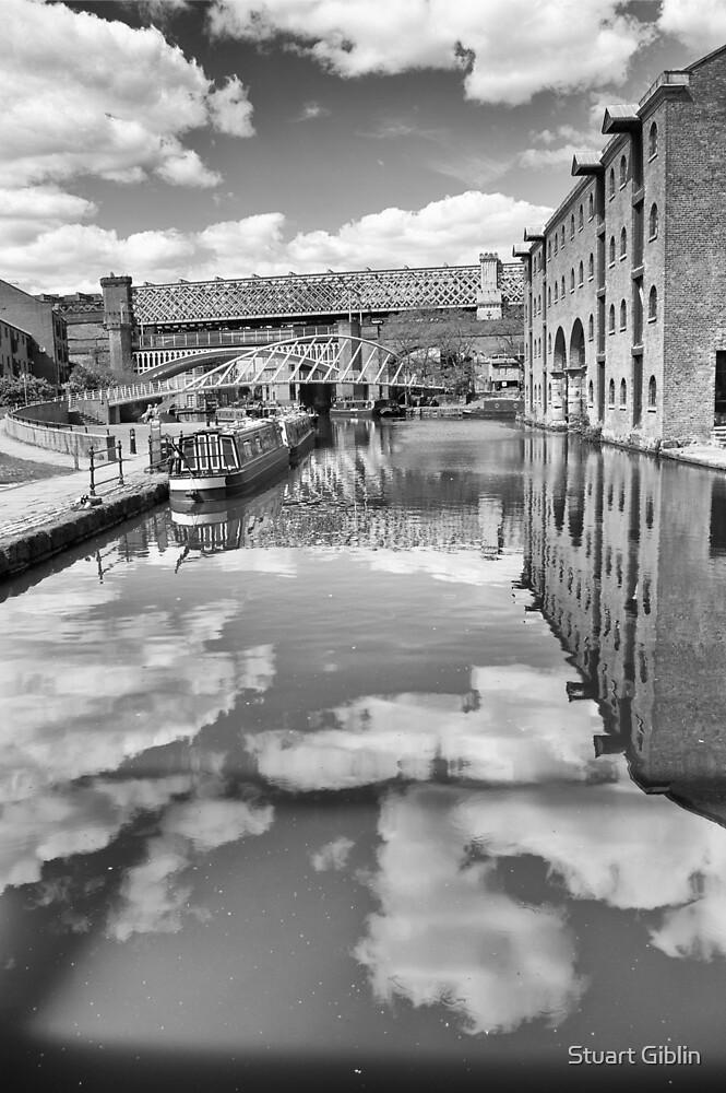 Castlefield Waterways of Manchester, Narrowboat & Bridges by Stuart Giblin